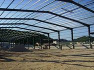 Big Span Warehouse Steel Structure With Red Anti - Rust Painting