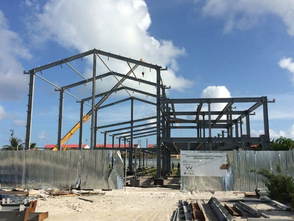 H beam Q235B Steel Building Steel Frame Fabrication For