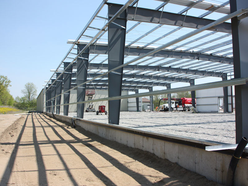 Different Section Building Steel Frame With Normal Painting