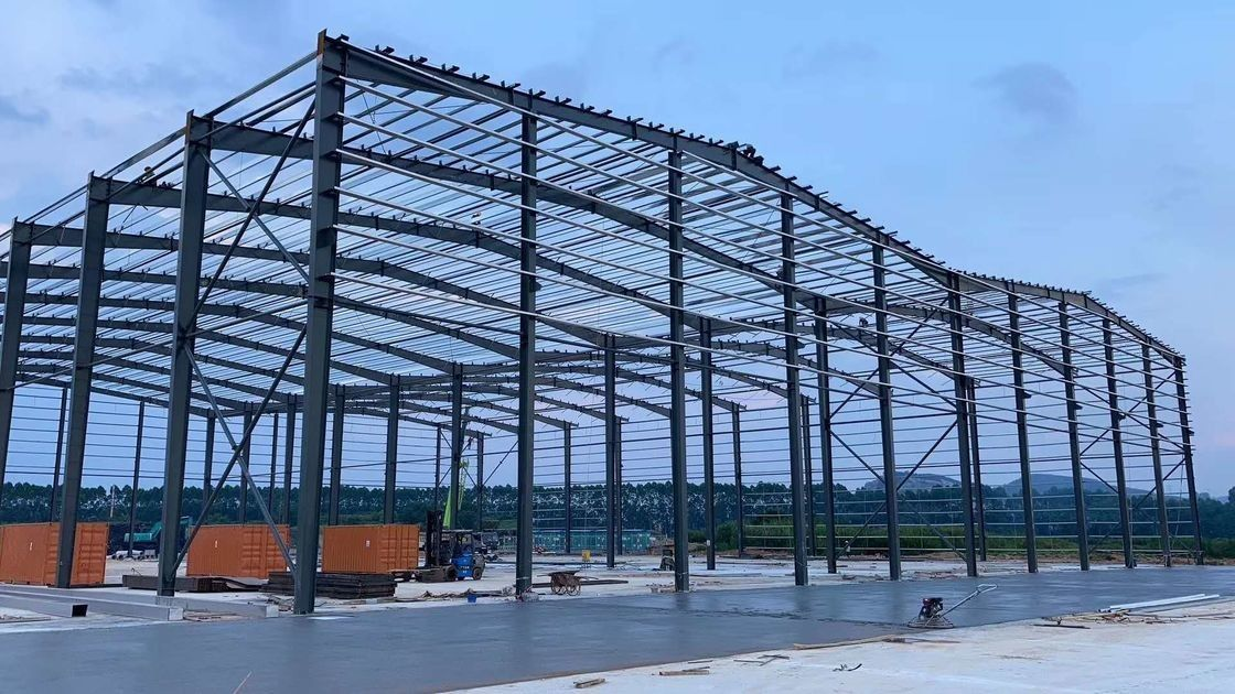 H Beam D20 Steel Structure Warehouse With Office And Awning